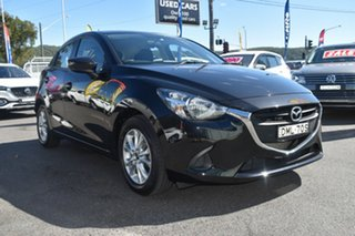 2016 Mazda 2 DJ2HAA Maxx SKYACTIV-Drive Black 6 Speed Sports Automatic Hatchback.