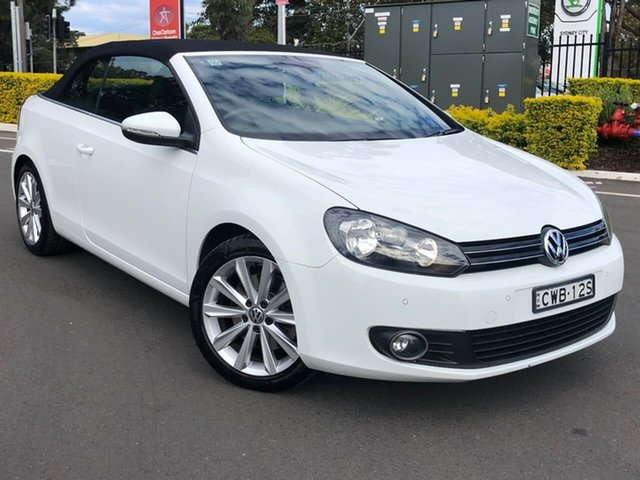 Used Volkswagen Golf VI MY14 118TSI DSG Botany, 2014 Volkswagen Golf VI MY14 118TSI DSG White 7 Speed Sports Automatic Dual Clutch Cabriolet