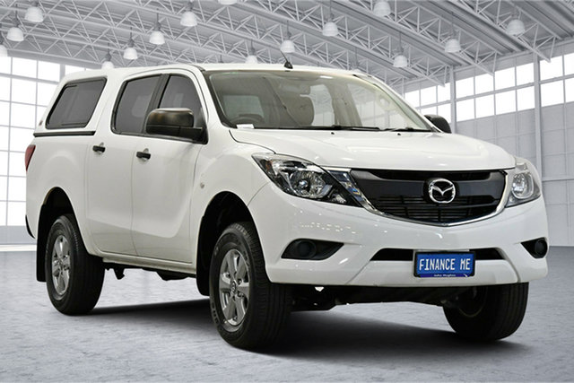 Used Mazda BT-50 UR0YG1 XT 4x2 Hi-Rider Victoria Park, 2017 Mazda BT-50 UR0YG1 XT 4x2 Hi-Rider White 6 Speed Sports Automatic Utility