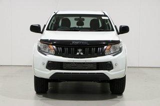 2017 Mitsubishi Triton MQ MY17 GLX (4x4) White 6 Speed Manual Dual Cab Chassis.