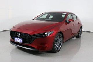 2020 Mazda 3 BP G20 Evolve Red 6 Speed Automatic Hatchback.