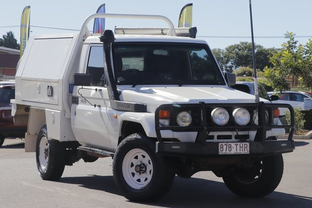 Used Toyota Landcruiser HZJ79R Toowoomba, 2006 Toyota Landcruiser HZJ79R White 5 Speed Manual Cab Chassis