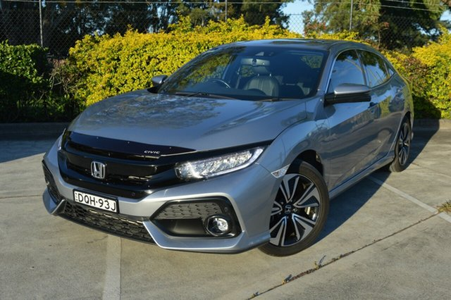Used Honda Civic 10th Gen MY17 VTi-LX Maitland, 2017 Honda Civic 10th Gen MY17 VTi-LX Silver, Chrome 1 Speed Constant Variable Hatchback