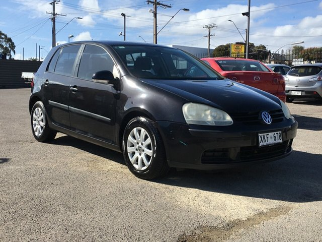 Used Volkswagen Golf V Comfortline Tiptronic Blair Athol, 2006 Volkswagen Golf V Comfortline Tiptronic Black 6 Speed Sports Automatic Hatchback