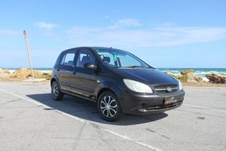 2008 Hyundai Getz TB MY07 S Black 4 Speed Automatic Hatchback.