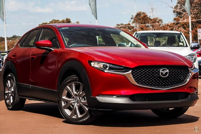 Demo Mazda CX-30 DM2W7A G20 SKYACTIV-Drive Evolve Waitara, 2021 Mazda CX-30 DM2W7A G20 SKYACTIV-Drive Evolve Red 6 Speed Sports Automatic Wagon