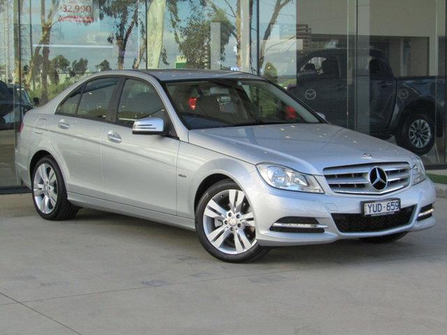 Used Mercedes-Benz C-Class W204 MY12 C200 BlueEFFICIENCY 7G-Tronic + Ravenhall, 2012 Mercedes-Benz C-Class W204 MY12 C200 BlueEFFICIENCY 7G-Tronic + Silver 7 Speed Sports Automatic