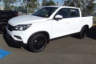 2021 Ssangyong Musso Q200 MY20.5 Ultimate Crew Cab Pearl White 6 Speed Sports Automatic Utility.