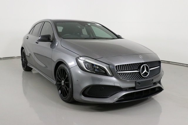 Used Mercedes-Benz A180 176 MY18 Bentley, 2017 Mercedes-Benz A180 176 MY18 Mountain Grey 7 Speed Automatic Hatchback