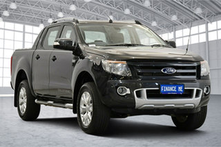 2015 Ford Ranger PX Wildtrak Double Cab Black 6 Speed Sports Automatic Utility.