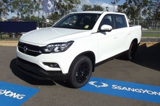 2021 Ssangyong Musso Q200 MY20.5 Ultimate Crew Cab White 6 Speed Sports Automatic Utility.