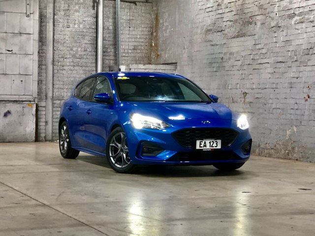 Used Ford Focus SA 2019MY ST-Line Mile End South, 2018 Ford Focus SA 2019MY ST-Line Blue 8 Speed Automatic Hatchback