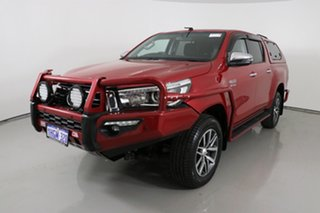2018 Toyota Hilux GUN126R MY17 SR5 (4x4) Red 6 Speed Automatic Dual Cab Utility.