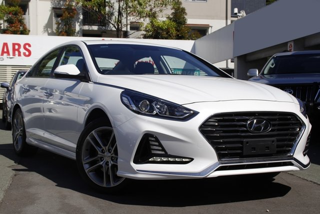 Used Hyundai Sonata LF4 MY19 Active Mount Gravatt, 2018 Hyundai Sonata LF4 MY19 Active White 8 Speed Sports Automatic Sedan