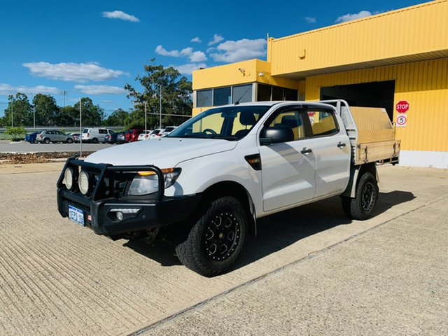 Used Ford Ranger PX XL 3.2 (4x4) Canning Vale, 2014 Ford Ranger PX XL 3.2 (4x4) White 6 Speed Automatic Dual Cab Chassis