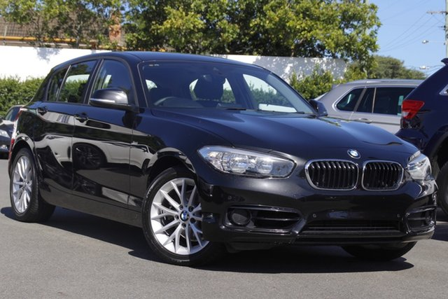 Used BMW 1 Series F20 LCI 118i Steptronic Sport Line Mount Gravatt, 2017 BMW 1 Series F20 LCI 118i Steptronic Sport Line Black 8 Speed Sports Automatic Hatchback