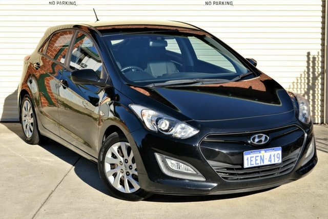 Used Hyundai i30 GD Active Mount Lawley, 2012 Hyundai i30 GD Active Black 6 Speed Sports Automatic Hatchback