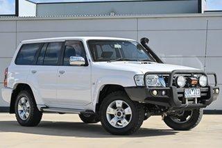 2012 Nissan Patrol Y61 GU 8 ST White 4 Speed Automatic Wagon.