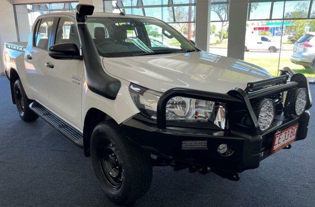 Used Toyota Hilux GUN126R SR Double Cab Winnellie, 2020 Toyota Hilux GUN126R SR Double Cab White 6 Speed Sports Automatic Utility