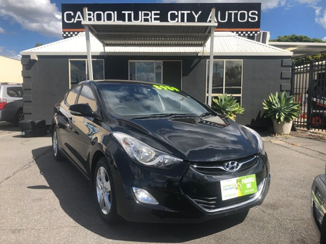 Used Hyundai Elantra MD Elite Morayfield, 2012 Hyundai Elantra MD Elite Black 6 Speed Automatic Sedan