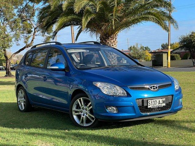Used Hyundai i30 FD MY11 Trophy cw Wagon Cheltenham, 2010 Hyundai i30 FD MY11 Trophy cw Wagon Vivid Blue 4 Speed Automatic Wagon