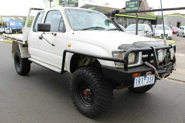 Used Toyota Hilux LN172R Xtra Cab West Footscray, 2000 Toyota Hilux LN172R Xtra Cab White 5 Speed Manual Cab Chassis
