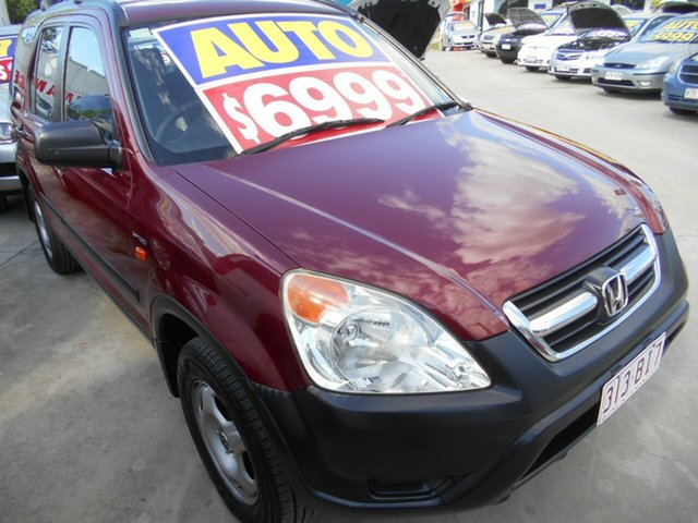 Used Honda CR-V RD MY2004 Sport 4WD Springwood, 2004 Honda CR-V RD MY2004 Sport 4WD Red 4 Speed Automatic Wagon