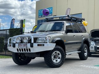 2001 Nissan Patrol GU II ST (4x4) Gold 5 Speed Manual 4x4 Wagon.