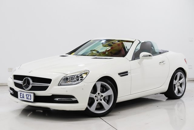 Used Mercedes-Benz SLK-Class R172 SLK350 7G-Tronic + Brooklyn, 2013 Mercedes-Benz SLK-Class R172 SLK350 7G-Tronic + White 7 Speed Sports Automatic Roadster
