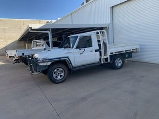 2019 Toyota Landcruiser VDJ79R GX (4x4) White 5 Speed Manual Cab Chassis.