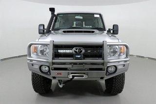 2018 Toyota Landcruiser VDJ76R GXL (4x4) Silver 5 Speed Manual Wagon.