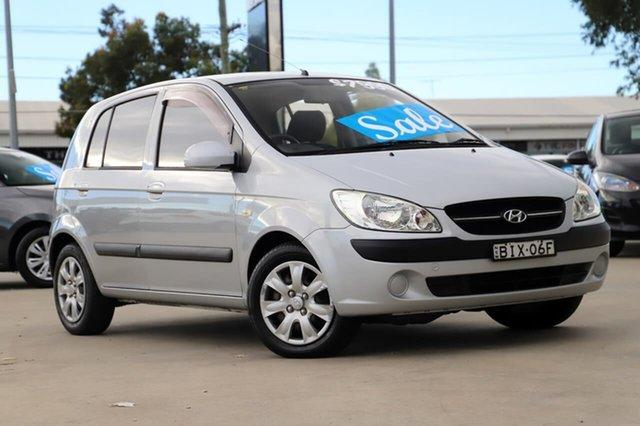 Used Hyundai Getz TB MY09 S Kirrawee, 2008 Hyundai Getz TB MY09 S Silver 4 Speed Automatic Hatchback