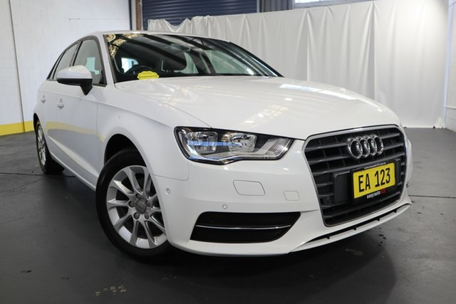 Used Audi A3 8V MY16 Attraction Sportback S Tronic Castle Hill, 2015 Audi A3 8V MY16 Attraction Sportback S Tronic White 7 Speed Sports Automatic Dual Clutch
