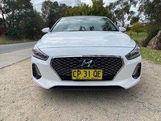 2018 Hyundai i30 PD Premium White Sports Automatic Dual Clutch Hatchback.