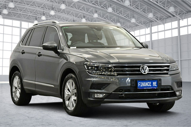 Used Volkswagen Tiguan 5N MY18 140TDI DSG 4MOTION Highline Victoria Park, 2018 Volkswagen Tiguan 5N MY18 140TDI DSG 4MOTION Highline Grey 7 Speed Sports Automatic Dual Clutch