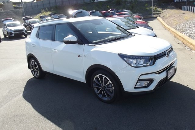 Used Ssangyong Tivoli X100 Ultimate AWD South Gladstone, 2019 Ssangyong Tivoli X100 Ultimate AWD White 6 Speed Sports Automatic Wagon
