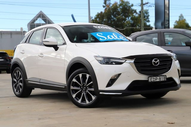 Used Mazda CX-3 DK2W7A sTouring SKYACTIV-Drive FWD Kirrawee, 2019 Mazda CX-3 DK2W7A sTouring SKYACTIV-Drive FWD White 6 Speed Sports Automatic Wagon