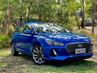 2017 Hyundai i30 PD MY18 SR Marina Blue 6 Speed Manual Hatchback.