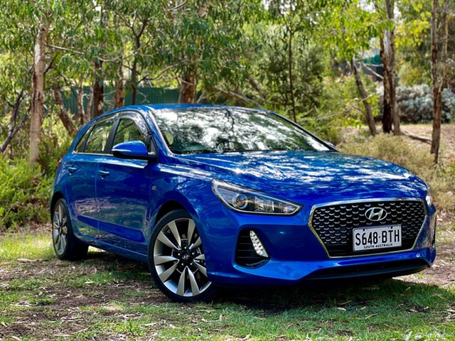 Used Hyundai i30 PD MY18 SR Reynella, 2017 Hyundai i30 PD MY18 SR Marina Blue 6 Speed Manual Hatchback