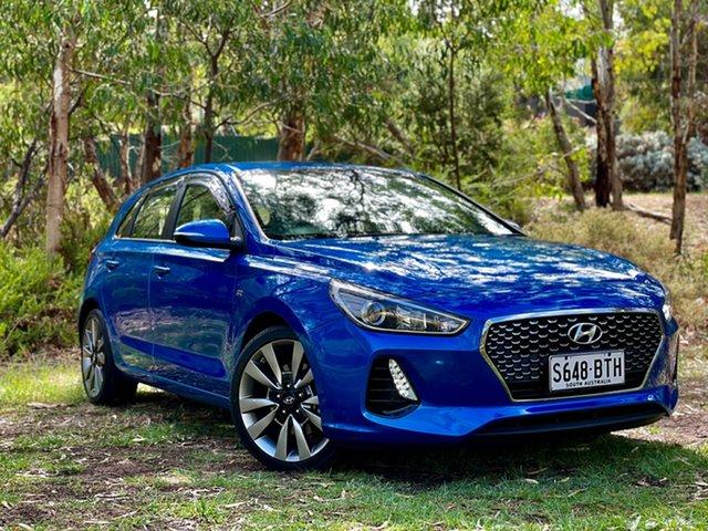 Used Hyundai i30 PD MY18 SR Reynella, 2017 Hyundai i30 PD MY18 SR Marina Blue 6 Speed Manual Hatchback