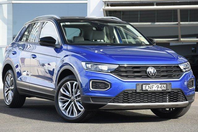 Demo Volkswagen T-ROC A1 MY21 110TSI Style Brookvale, 2021 Volkswagen T-ROC A1 MY21 110TSI Style Ravenna Blue 8 Speed Sports Automatic Wagon