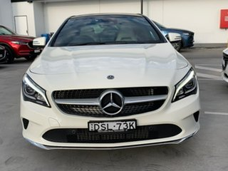 2017 Mercedes-Benz CLA-Class C117 807MY CLA200 DCT White 7 Speed Sports Automatic Dual Clutch Coupe
