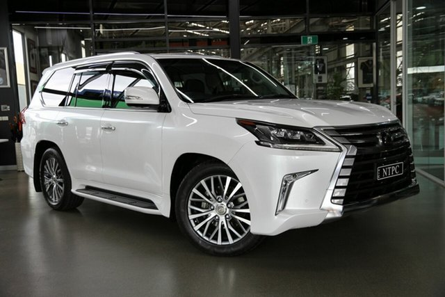Used Lexus LX URJ201R LX570 North Melbourne, 2017 Lexus LX URJ201R LX570 White 8 Speed Sports Automatic Wagon