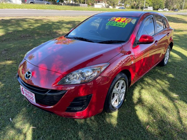Used Mazda 3 BL10F1 Maxx Clontarf, 2010 Mazda 3 BL10F1 Maxx Red 6 Speed Manual Hatchback