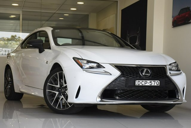 Pre-Owned Lexus RC GSC10R RC350 F Sport Brookvale, 2016 Lexus RC GSC10R RC350 F Sport White 8 Speed Sports Automatic Coupe