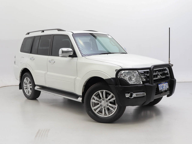 Used Mitsubishi Pajero NX MY15 GLX LWB (4x4), 2015 Mitsubishi Pajero NX MY15 GLX LWB (4x4) White 5 Speed Auto Sports Mode Wagon