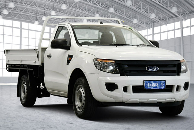Used Ford Ranger PX XL Victoria Park, 2013 Ford Ranger PX XL White 6 Speed Manual Cab Chassis