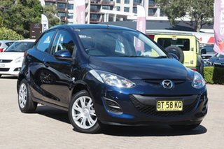 2012 Mazda 2 DE MY13 Neo Blue 4 Speed Automatic Hatchback.