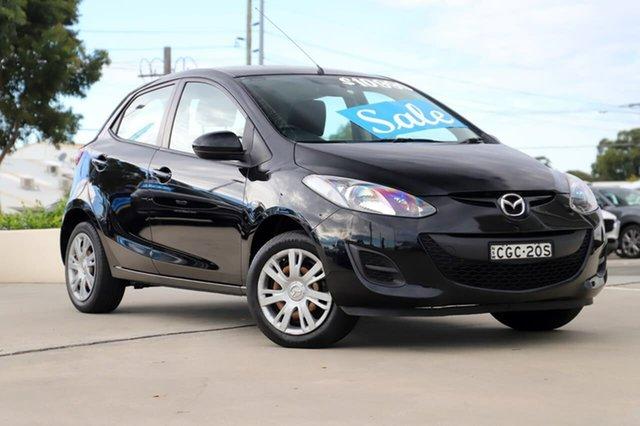 Used Mazda 2 DE10Y2 MY12 Neo Kirrawee, 2012 Mazda 2 DE10Y2 MY12 Neo Black 5 Speed Manual Hatchback
