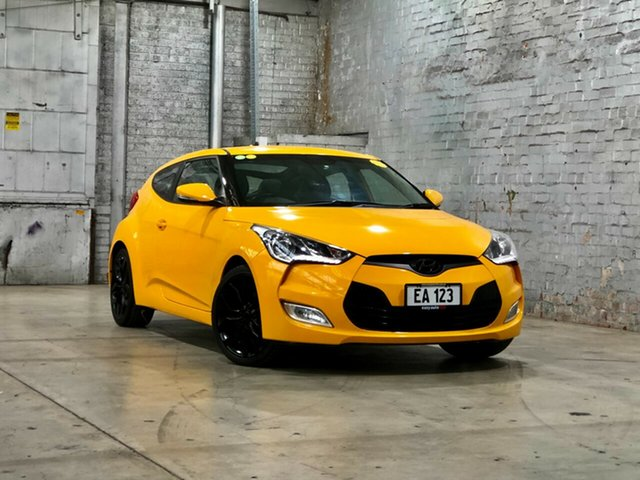 Used Hyundai Veloster FS Coupe Mile End South, 2012 Hyundai Veloster FS Coupe Yellow 6 Speed Manual Hatchback